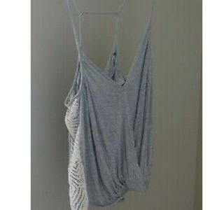 Free people surplice crochet side tank